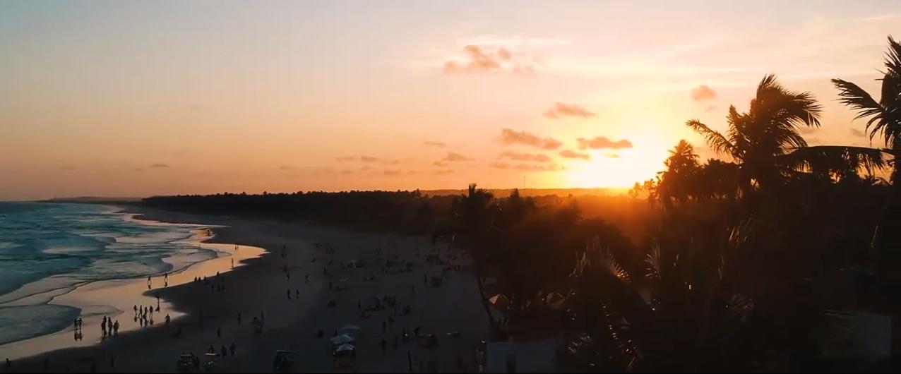 Alba spiaggia Praia do Frances